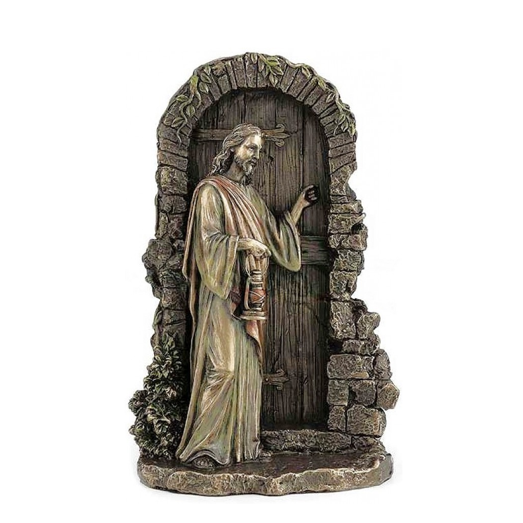Jesus Knocking at Door Renaissance statue