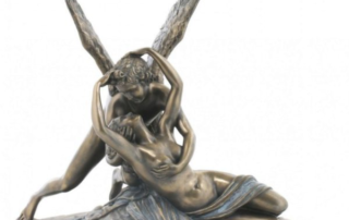 bronze cupid and psyche statue
