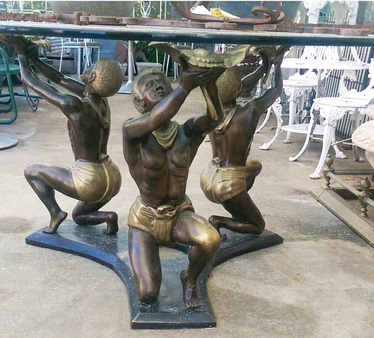 golden figure coffee table