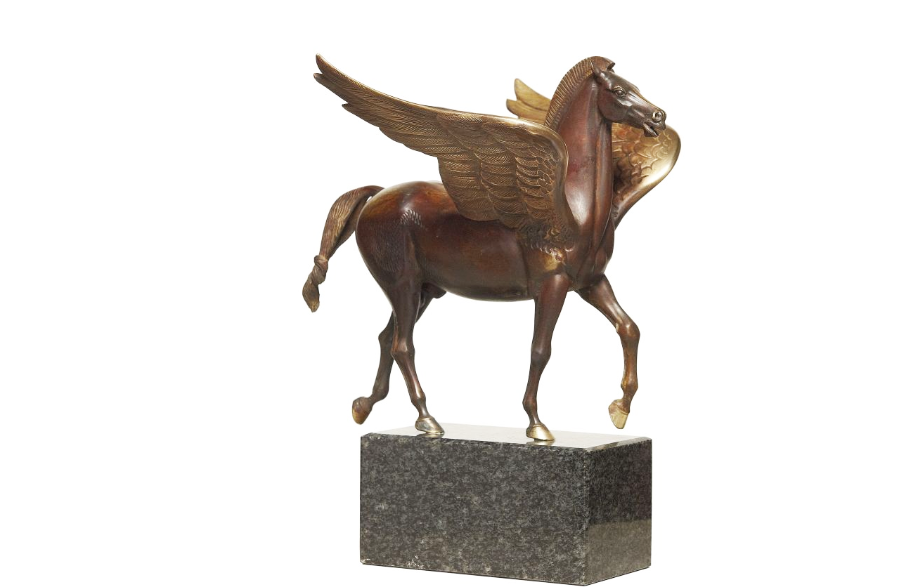 Factory price patina customized elegant bronze outdoor Pegasus statue