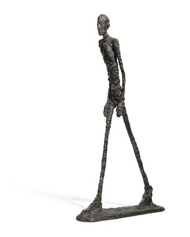 Art shop wholesale handmade outdoor bronze walking man sculpture