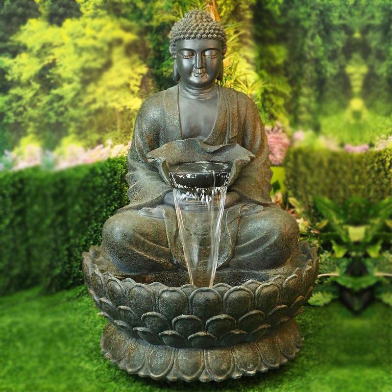Sitting Quite Buddha fountain