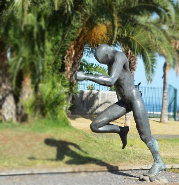 Bronze Running Man Sculpture