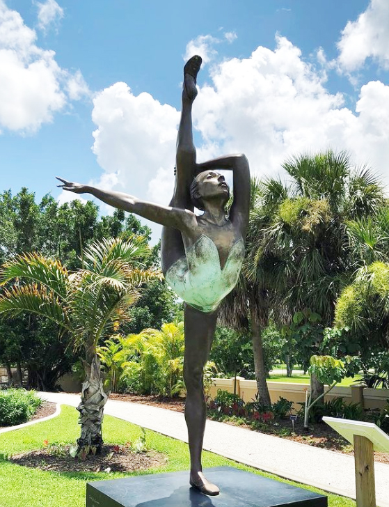 dancing girl sculpture