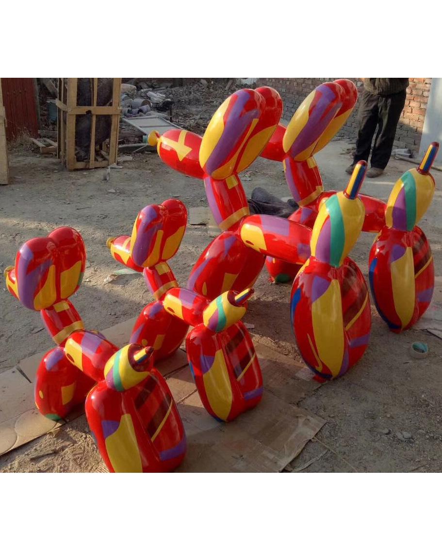 fiberglass balloon dog sculpture